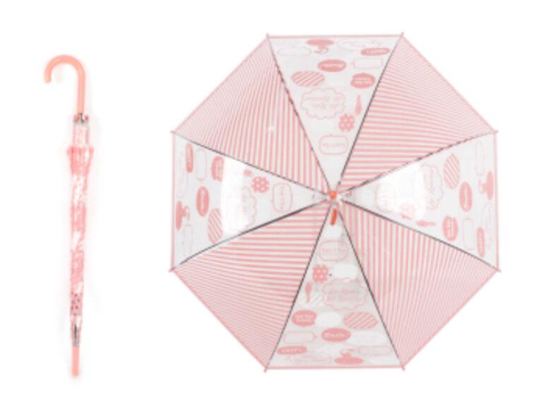 Oμπρέλα μεγάλη happy ροζ